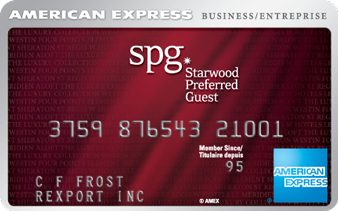 Carte de crédit entreprise Starwood Preferred Guest<sup>MD*</sup> d'American Express