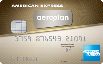 Carte en Or AéroplanPlus<sup>MD*</sup> American Express<sup>MD</sup>