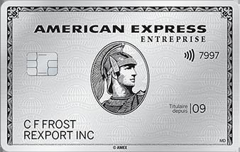 La Carte de Platine entrepriseᴹᴰ d'AmericanExpress